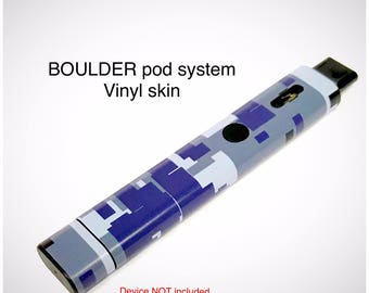 Boulder Vape Mod skin wrap Blue digital camo skin wrap by Jwraps