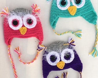 Owl Baby and Child Hats