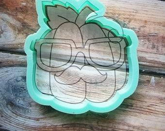 Hipster Pumpkin cookie cutter