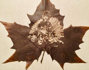 Timeless Beauty From The East, Carved Leaf