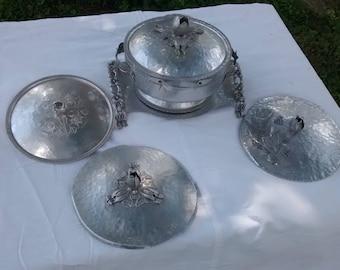 Vintage Aluminum serving pieces