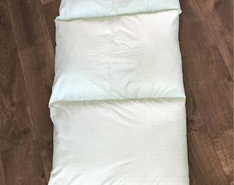 Mint Green pillowbed holds 5 pillows