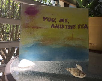 "Canvas Wall Art ""You, Me, And the Sea"""