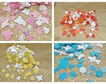 Flower Butterfly Card Making Scrapbook Embellishments Confetti Paper Craft Supplies
