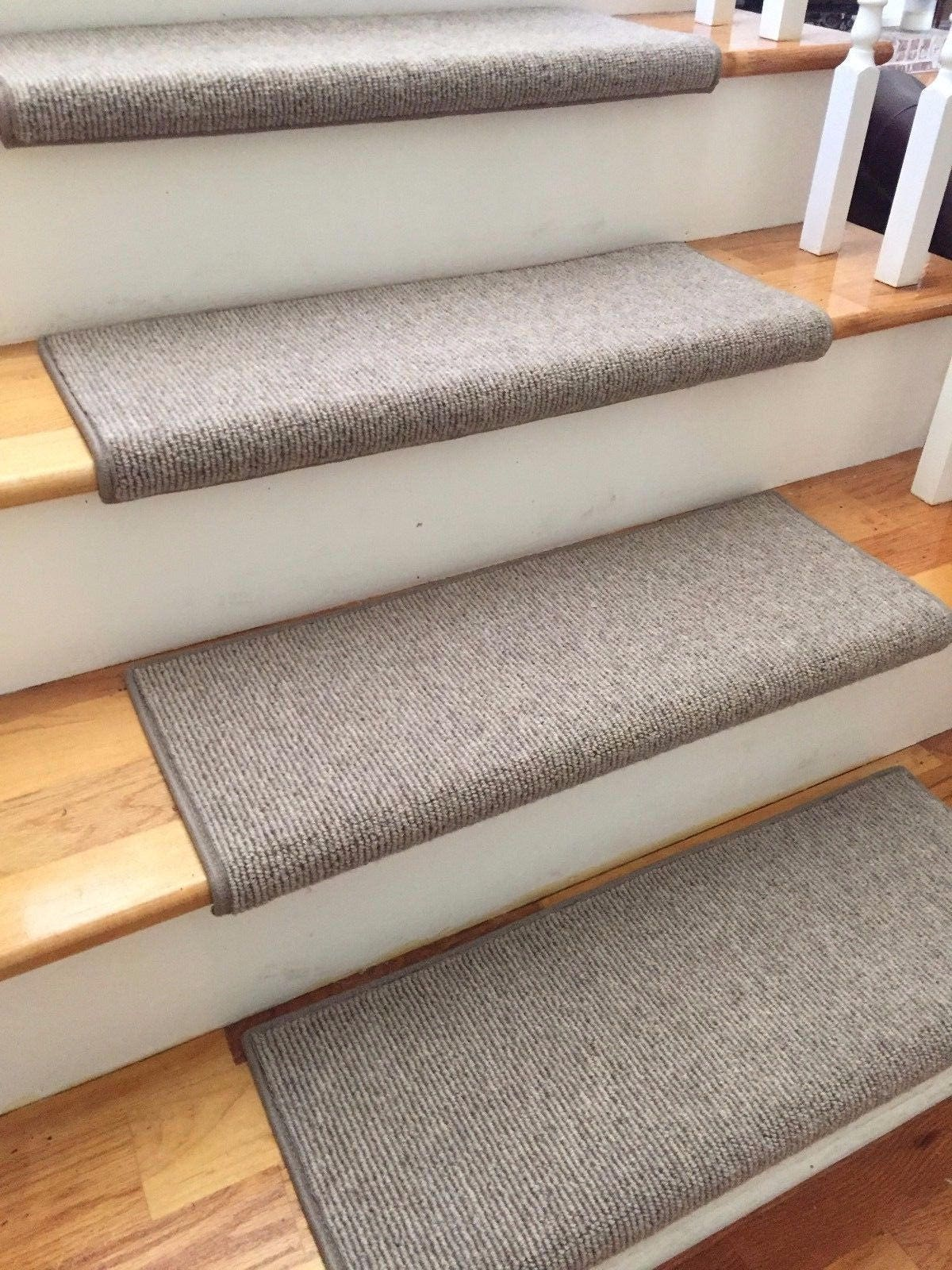 Bristol Taupe New Zealand Wooltrue Bullnose Carpet Stair