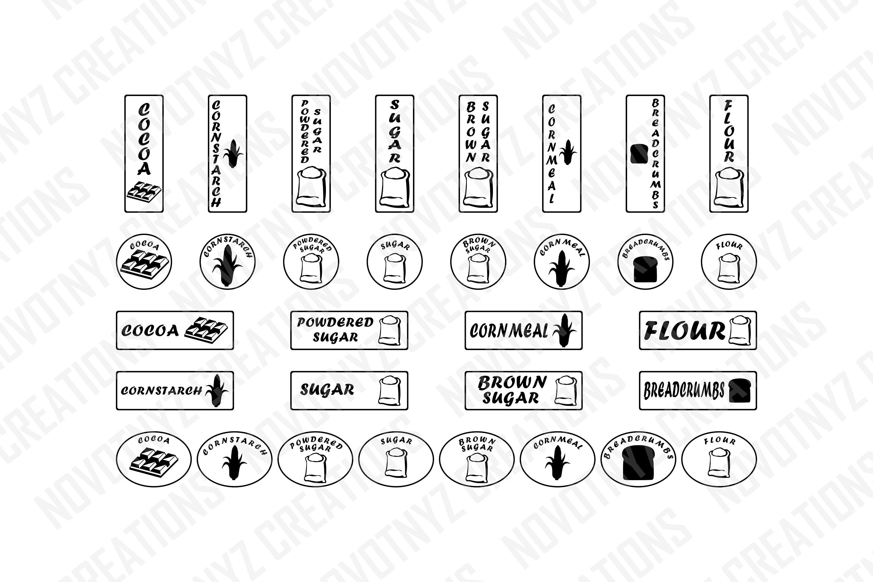Kitchen Labels Svg Pantry Labels Svg Canister Labels Svg
