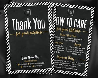Lula Thank You Cards with blank, Care Cards, New Happiness Policy, New Return policy, Digital Cards, business card, lula Thank You Card #7v2
