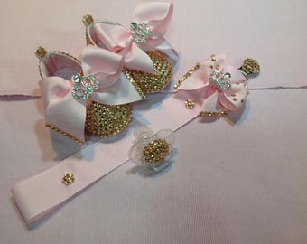 Embellished Shoes with Dummy Clip and Dummy