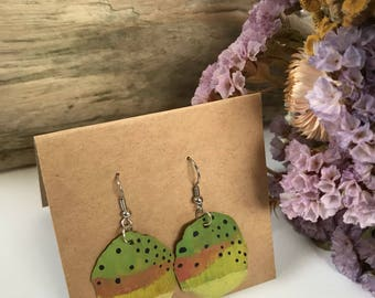 Handpainted Scale Earrings
