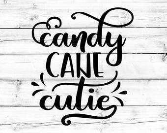 Candy Cane Cutie Svg - Png, Christmas Svg, Winter Svg, Kid's Christmas Svg, Candy Cane Svg, Svg Files, Svg Files for Cricut