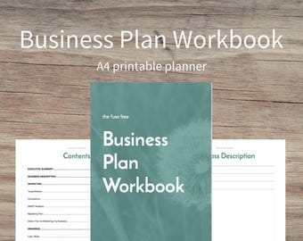 BUSINESS PLAN WORKBOOK - Small Business Printable Planner, printables, business planner, business planning, business owner, planning