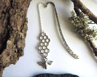 Silver bee bookmarks
