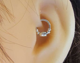 Daith Piercing,Helix,Cartilage Beaded Ring..16g..8mm