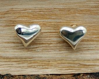 Sterling Silver Heart Earrings  (CRE-003)