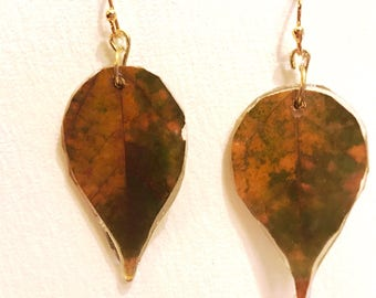 Hand Crafted Maple Leaf Earrings