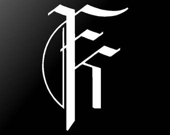 Fit For A King Vinyl Decal Car Window Laptop FFAK Logo Sticker