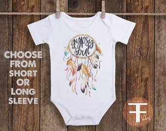 Gypsy Soul Onesie, Boho Baby Clothes, Take Home Outfit For Girl, Baby Girl Coming Home Outfit, Baby Girl Take Home Outfit, Boho Onesie