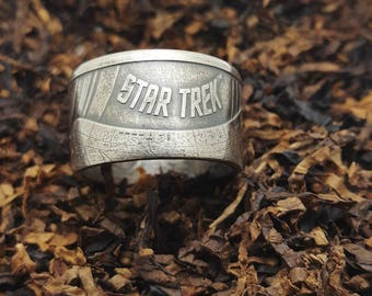 1 Oz silver Star Trek coin ring