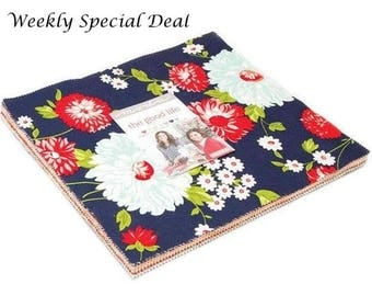 "SALE - Moda Fabrics The Good Life Layer Cake by Bonnie & Camille - 42, 10"" x 10"" Precut Fabric Squares"