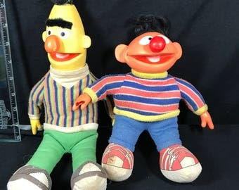 Bert & Ernie from 1985 Applause Plush Dolls
