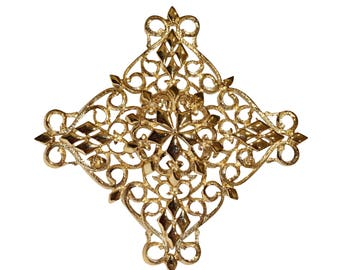 VINTAGE - cross brooch
