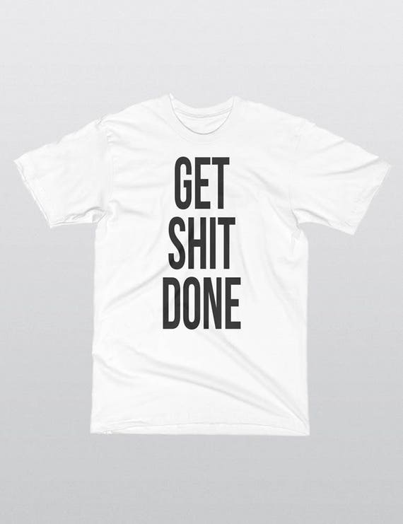 GET SHIT DONE | La Apparel 20001 Fine Jersey Short Sleeve Mens T-Shirt