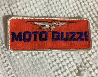 MOTO GUZZI Motorcycle VINTAGE Patch Mint LooK Detailed Stitching