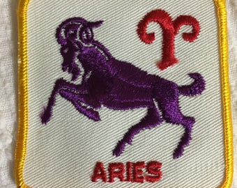 ARIES Astrology Horoscope Detailed PATCH Vintage Mint Exc Item ZODIAC