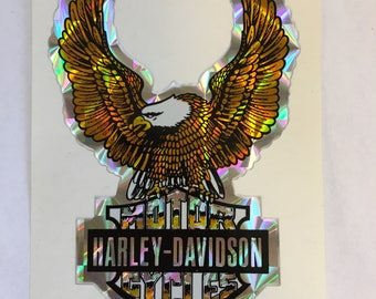 HARLEY DAVIDSON Eagle Decal Mint Item Iridescent Coloring Shines MotorCYCLES Motor Cycles