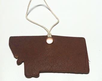 Montana leather ornament