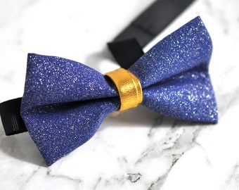 Baby Kids Boys Faux Leather Shining Bowtie Bow Tie 1-6 Years Old Wedding Party Royal BLUE Indigo