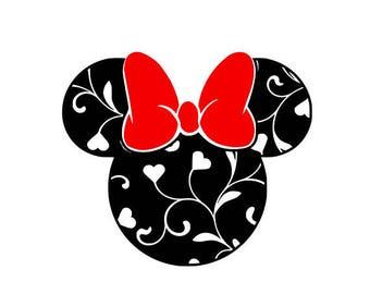 Valentine Minnie .svg file for Cricut and Silhouette
