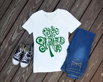 St. Patty Shamrock Women's T-Shirt, St Patricks Day Shirt