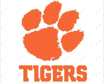Clemson Tigers svg claw paw footprint svg Dxf Eps Png Ai for Cricut Silhouette Digital File design Print Mug Shirt Decal