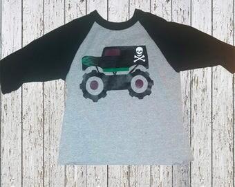 Gravedigger monster truck shirt