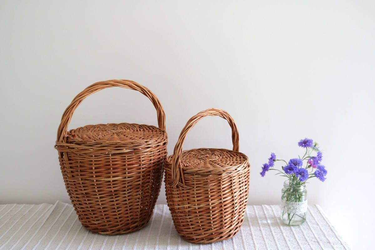 Rieten Tas Mand : Jane birkin basket medium ronde rieten mand picknickmand