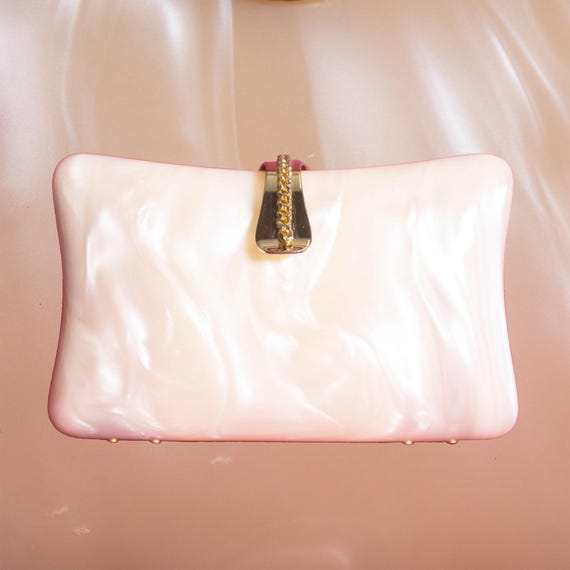 Ivory Lucite Clutch