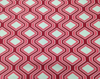4 Yards Red Hexagon Home Dec Fabrics
