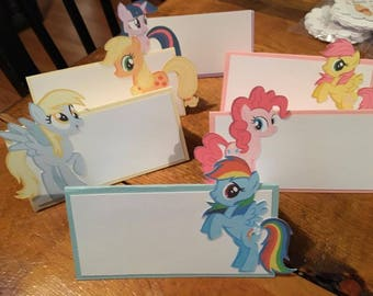 12 My Little Pony Tent Place Cards