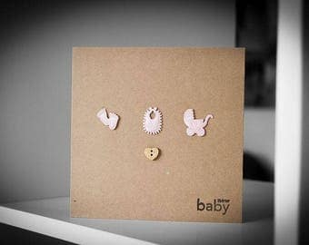New Baby Greeting Card (Pink)