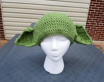 Crochet Yoda Star Wars Hat