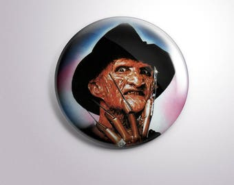 FREDDY KRUEGER- pins / buttons / magnets - A Nightmare on Elm Street Horror movie