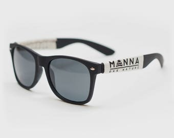 Manna - One Nature - Black Wayfarer Sunglasses