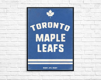 Toronto Maple Leafs NHL Print Picture Art Poster Style Print