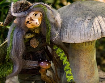 Wiccan Art Doll Forest Troll Toby