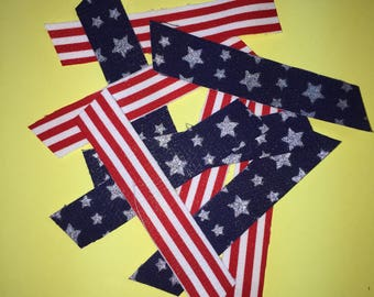 Fabric Washi Tape 10 piece set #Patriotic #Independence Day #Celebrate