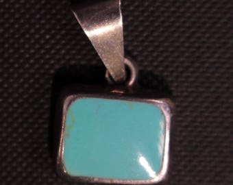 Vintage Turquoise Necklace or choker Pendant 2109