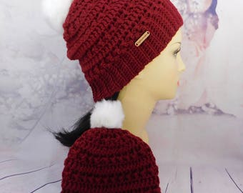 Holiday Mommy and me hat set