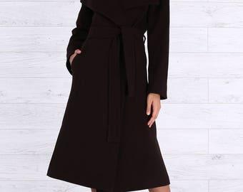 Brown coat | Etsy