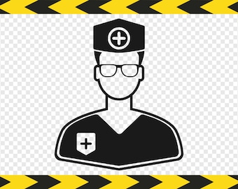 Doctor Paramedic Medic SVG Decal Clipart Silhouette Cricut Designs Cut files Dxf Pdf Png
